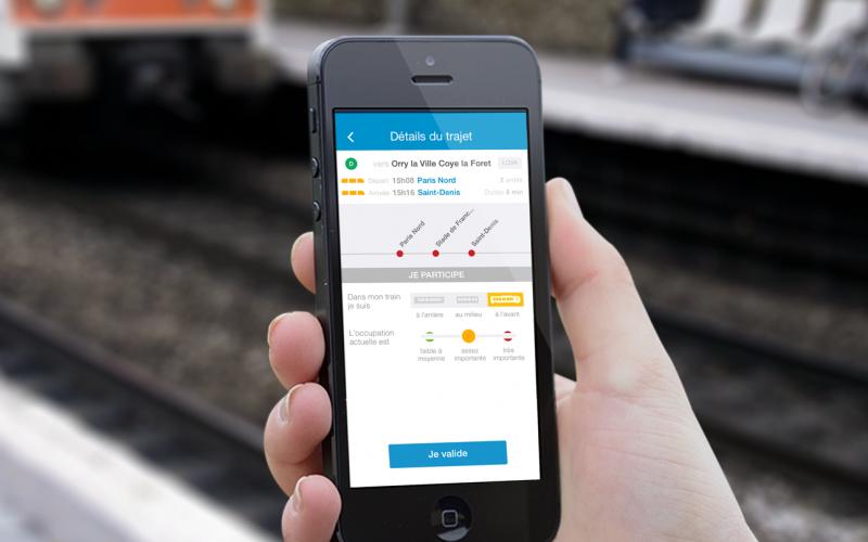 L'application Tranquilien, développée par Snips, en partenariat avec la SNCF